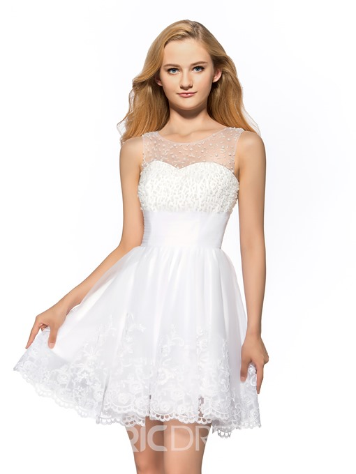Concise A-Line Halter Neckline Short Homecoming Dress