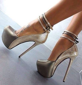 Fashion Top-quality Ankle Straps Prom Shoes