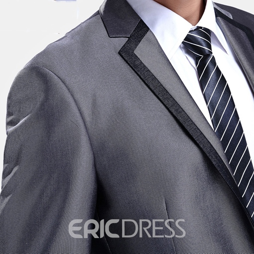 Ericdress Vogue Patched Slim Design Men's Suit