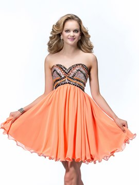 Sexy A-Line Sweetheart Neckline Lower Zipper Homecoming Dress
