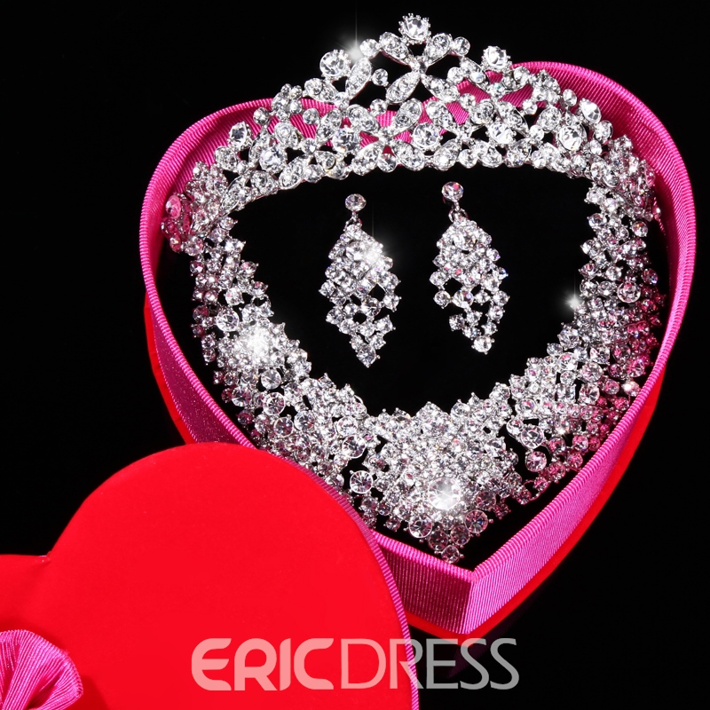 Rhinestone Wedding Jewelry Set(Include Necklace and Earring )