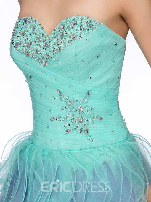 Charming Sweetheart Beading Tiered Short Homecoming Dress