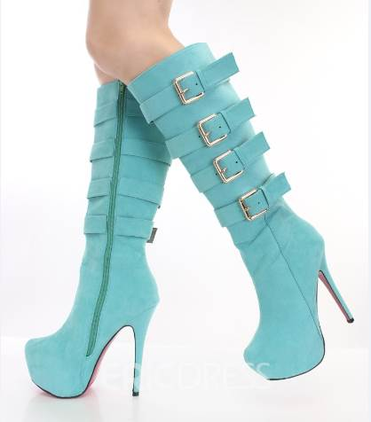 Ericdress Buckles Decoration Knee High Boots