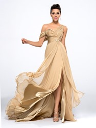 Ericdress A-Line One-Shoulder Evening Dress With Appliques And Beading thumbnail