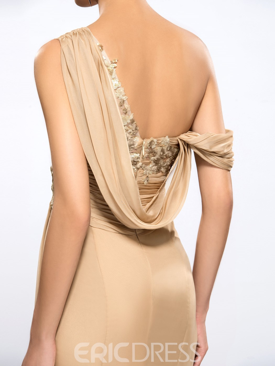 Ericdress One-shoulder Sequins Evening Dress