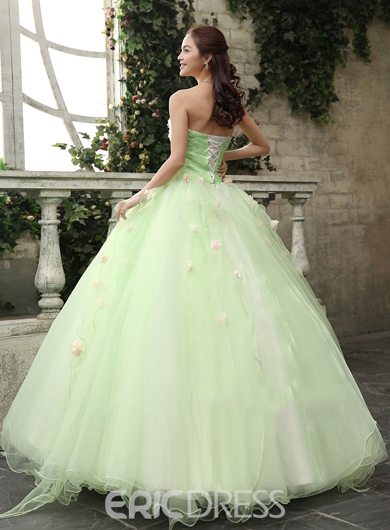 5a027c45a1a ... Timeless Strapless Cascading Ruffles Flowers Floor Length Quinceanera  Dress ...