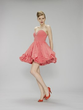 Ericdress A-Line Sweetheart Ruched Crystal Short Homecoming Dress