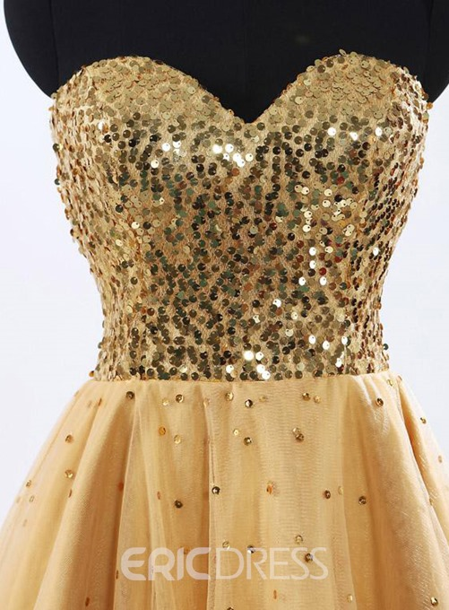 Exquisite Sequined Bodice Short Cocktail/Homecoming Dress