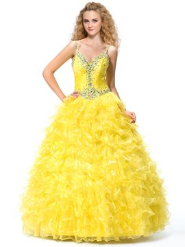 Stunning Sweetheart Neckline Beaded Sequins Ball Gown