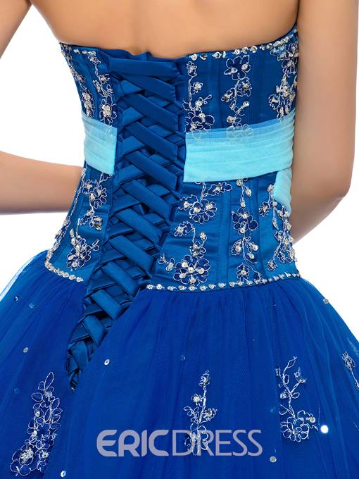 Ericdress Sweetheart Beaded Puffle Ball Quinceanera Gown
