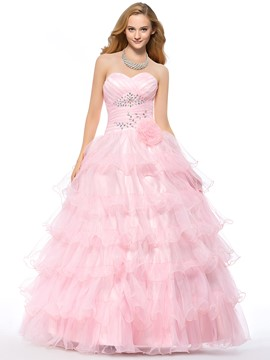 Cute Pure Color A-line Sweetheart Neckline Quinceanera Dress