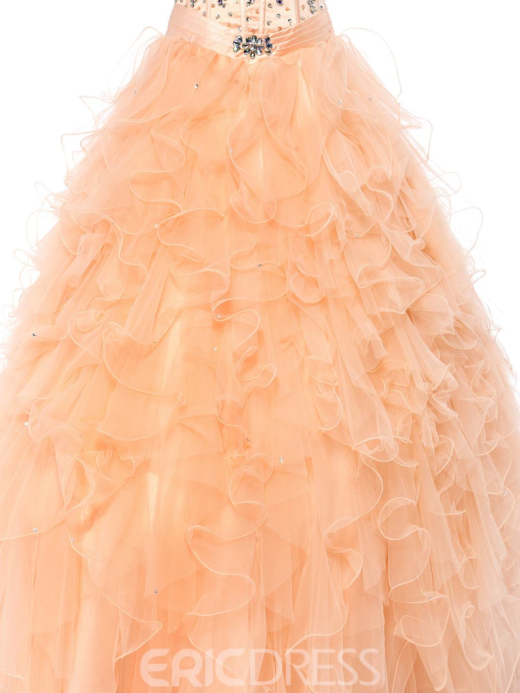 Charming A-line Sweetheart Floor-Length Quinceanera Dress
