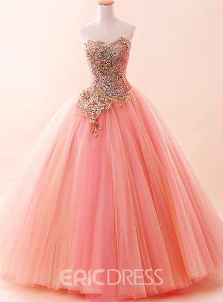 Ericdress Ball Gown Beading Strapless Quinceanera Dress 2019