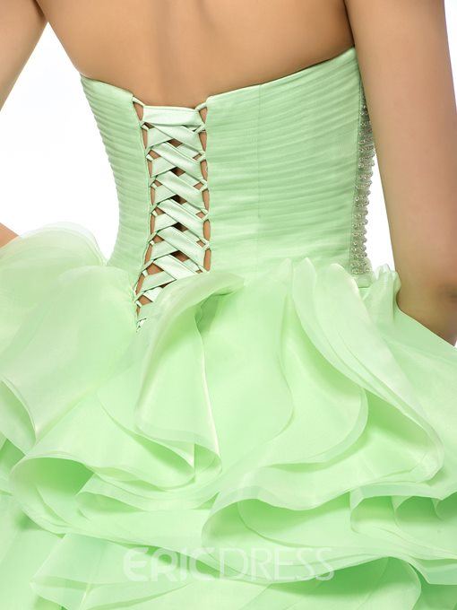 Concise Pure Color A-line Sweetheart Neckline Quinceanera Dress