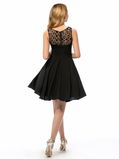 Charming Jewel A Line Lace Short Cocktail Dress