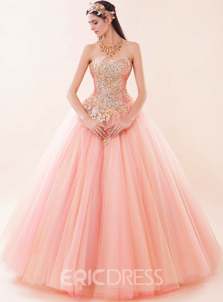 Ericdress Ball Gown Beading Strapless Quinceanera Dress