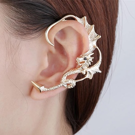 Vintage Punk Style Dragon Ear Cuff