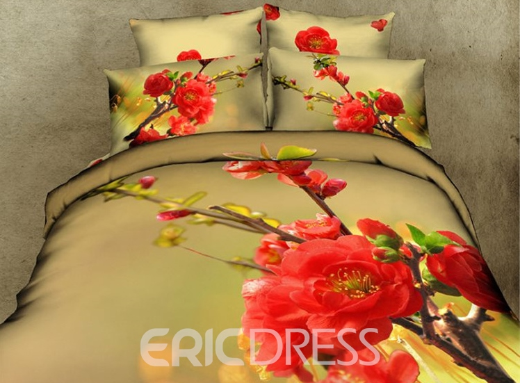 Stereoscopic 3d Plum Bedding Sets 11038187