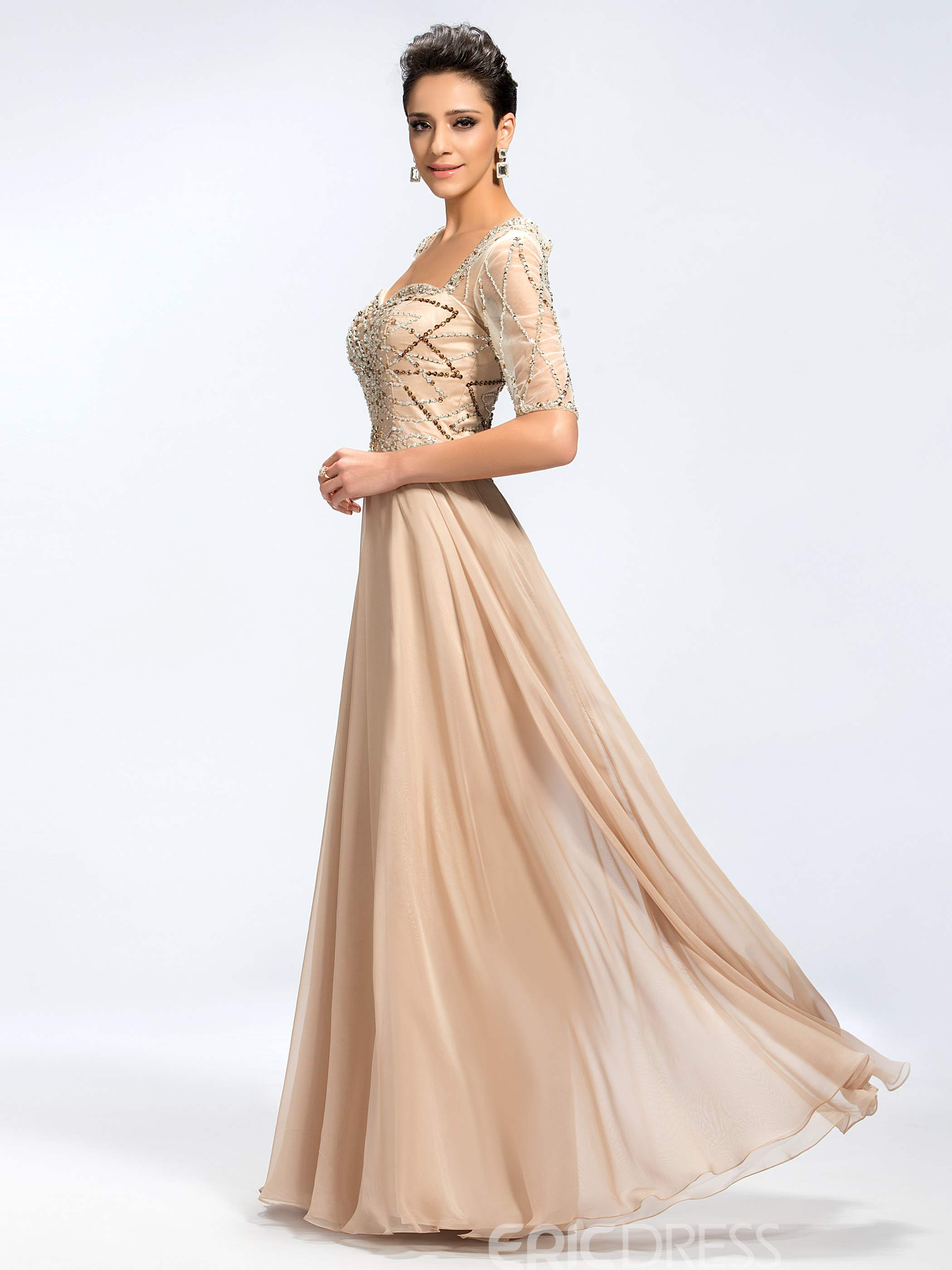 Classy Sweetheart A-line Floor Length Mother of the Bride Dress