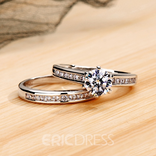 Exquisite NSCD Diamond Pt950 D0.80ct Engagement/Wedding Ring Sets