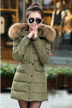 Ericdress Zipper Button Mid-Length Coat