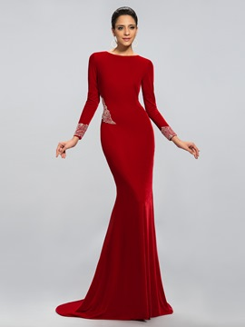 Classy Long Sleeves Trumpet/Mermaid Evening Dress