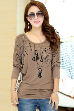 Casual Plus Size Long Sleeves T-shirt