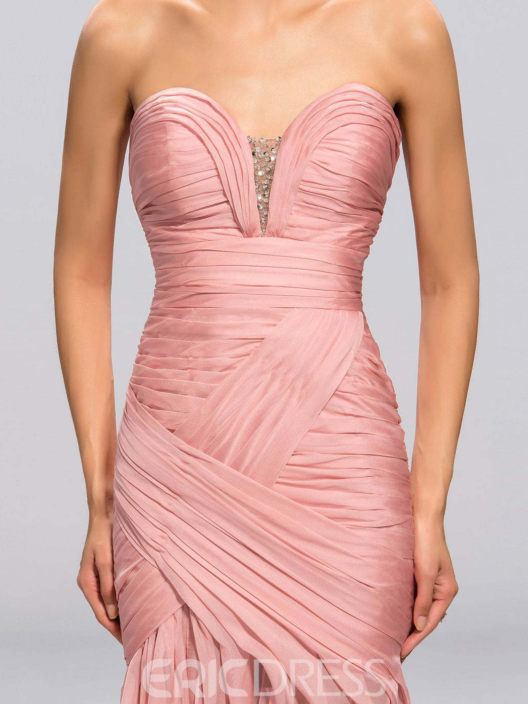Strapless Sweetheart Mermaid Trumpet Evening Dress