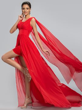 Gorgerous A-Line Square Chiffon Evening Dress