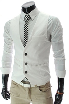 Ericdress Plain Men's Vest