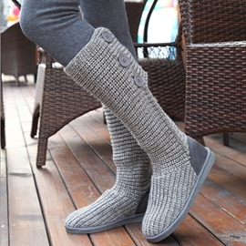 Vogue European Woolen Knee High Boots