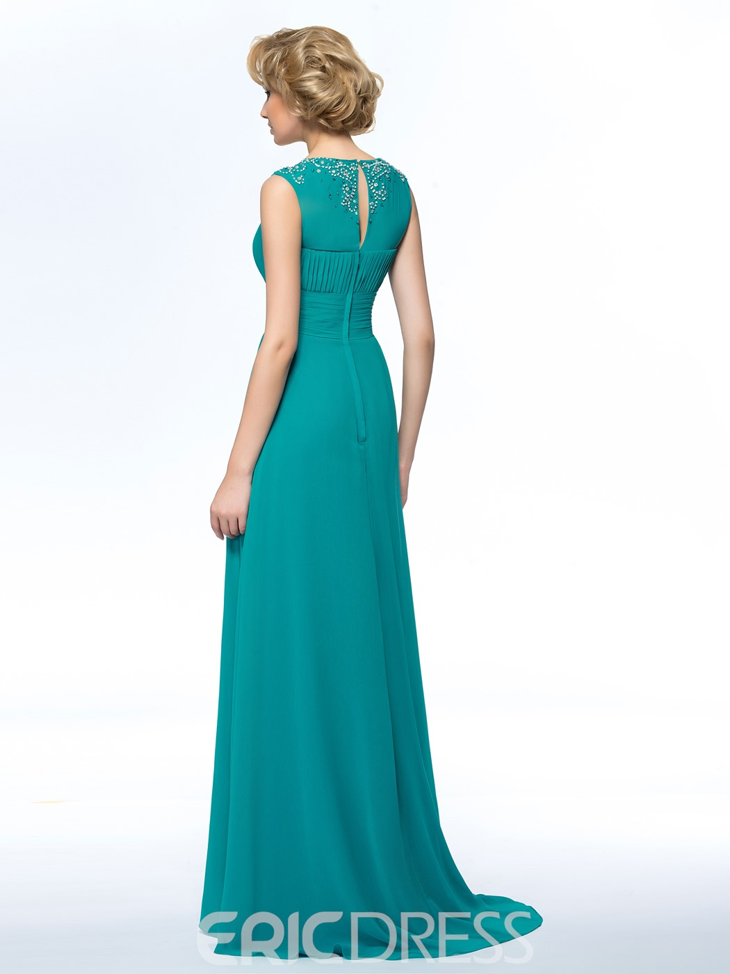 Jewel Sequins A-Line Mother of the Bride Dress