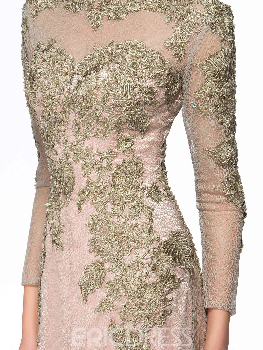 Classy Jewel Neck Long Sleeves Mother of the Bride Dress