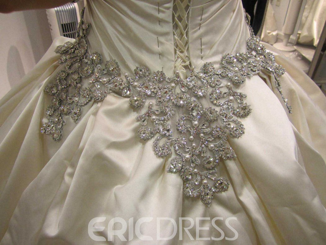 Sweetheart Rhinestone Cathedral Wedding Dress 11064947 ...