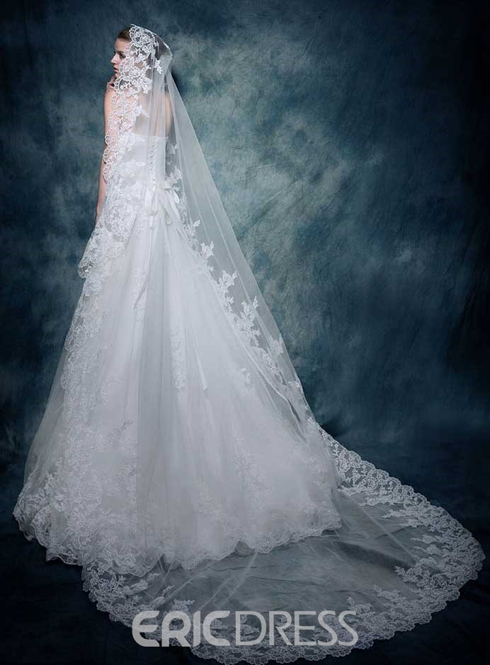 Classy A-Line Sweetheart Appliques Beading Wedding Dress