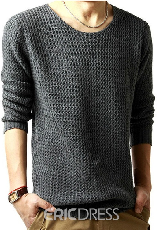 Ericdress Plain Straight Mens Pullover Sweaters