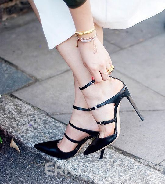Ericdress Princess Pointed-toe Stiletto Sandals