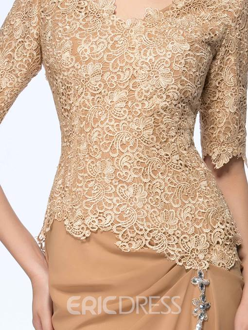 Ericdress Lace Half Sleeve Mother of the Bride Dress