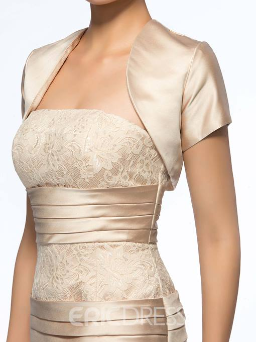 Strapless Sheath Short Mother of the Bride Dress With Jacket/Shawl