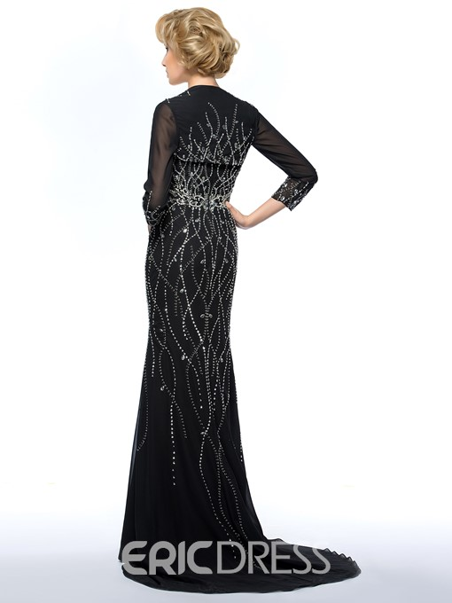 Classy Sweetheart Beading Sweep Train Mother of the Bride Dress With Jacket/Shawl