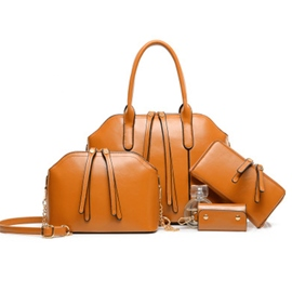 Ericdress Shining Solid Color Shell Handbags(4 Bags)