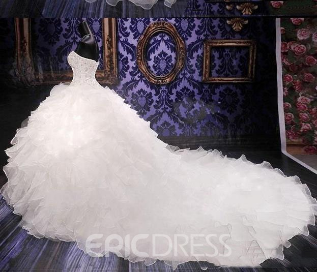 Ericdress Luxury Sweetheart Beadings Ball Gown Wedding Dress
