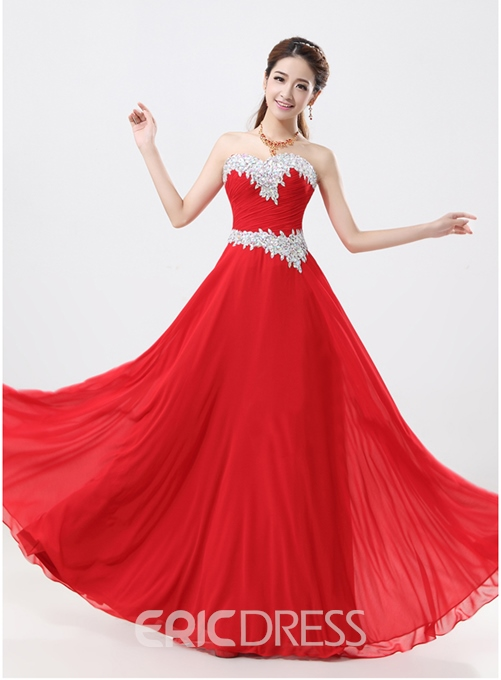 Sweetheart Beaded A-Line Prom Dress