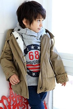 Ericdress Plain Zipper Thick Boy's Coat