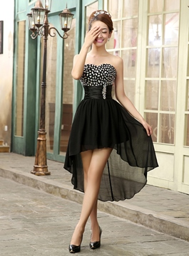 Stylish Sweetheart High-Low Prom/Cocktail Dress