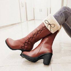 Korean Sweet Bowknot Knee High Boots