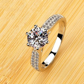 Ericdress brillante 1 quilates diamante anillo