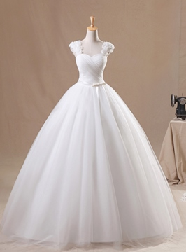 Ericdress Flowers Straps Ball Gown Wedding Dress 2019