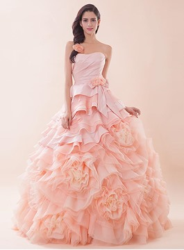 Glorious Sweetheart Cascading Ruffles Quinceanera Dress
