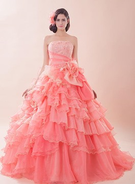 Perfect Strapless Ball Gown Quinceanera Dress